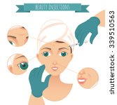 beauty injections infographic.... | Shutterstock .eps vector #339510563