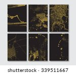 set of the blank gold glitter... | Shutterstock .eps vector #339511667