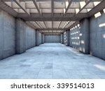 long tunnel of concrete... | Shutterstock . vector #339514013