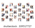 standing together office... | Shutterstock . vector #339517727