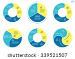 circular infographics. flat pie ... | Shutterstock .eps vector #339521507