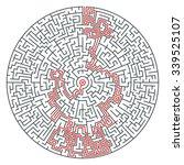 abstract vector circle maze of...   Shutterstock .eps vector #339525107