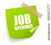 job openings sticker | Shutterstock .eps vector #339527177