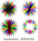 colorful geometric flower | Shutterstock .eps vector #339541313