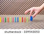domino block | Shutterstock . vector #339543053