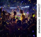 fans on stadium game  | Shutterstock . vector #339544127