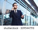attractive young businessman... | Shutterstock . vector #339544793