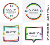 vector set of quote forms... | Shutterstock .eps vector #339549677