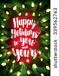 typographic christmas card ... | Shutterstock . vector #339562763