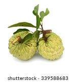 Custard Apple Isolated On Whit...