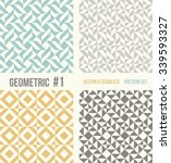 Set Of Four Geometric Patterns...