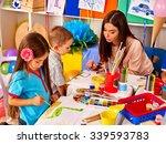 children with teacher woman... | Shutterstock . vector #339593783