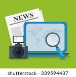 news media and broadcasting... | Shutterstock .eps vector #339594437