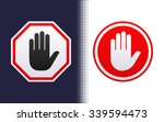 do not enter stop signs with... | Shutterstock .eps vector #339594473