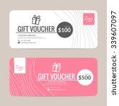 gift voucher template   eps10... | Shutterstock .eps vector #339607097