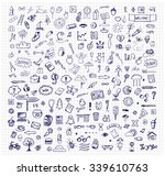 collection of hand drawn ink... | Shutterstock . vector #339610763