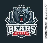 Bear Sport Logo Vector Templat...
