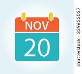 Colorful Calender Icon   Nov 20