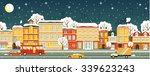 town panoramic night cityscape... | Shutterstock .eps vector #339623243