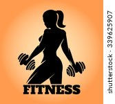 fitness club and gym banner or... | Shutterstock .eps vector #339625907