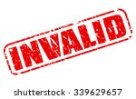 invalid red stamp text on white | Shutterstock .eps vector #339629657