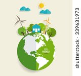 eco friendly. ecology concept... | Shutterstock .eps vector #339631973