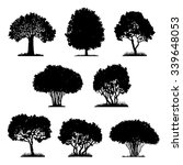 set of tree silhouettes ... | Shutterstock .eps vector #339648053