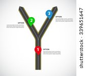 diverging roads with arrows ... | Shutterstock .eps vector #339651647