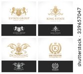 luxury crests collection gold... | Shutterstock .eps vector #339657047