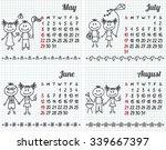 2016 year hand drawn calendar ...   Shutterstock .eps vector #339667397