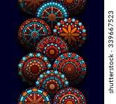 colorful circle flower mandalas ...   Shutterstock .eps vector #339667523