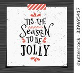 christmas typographic design... | Shutterstock .eps vector #339695417