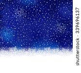 white snow flake border at the... | Shutterstock .eps vector #339696137