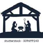 traditional christmas nativity... | Shutterstock .eps vector #339699143
