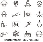 pirate outline icons | Shutterstock .eps vector #339708383