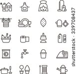 housekeeping outline icons