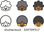 afro american man and woman...   Shutterstock .eps vector #339709517
