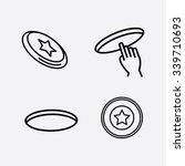 frisbee. ultimate frisbee.... | Shutterstock .eps vector #339710693