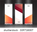roll up banner stand design.... | Shutterstock .eps vector #339718307