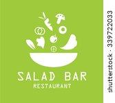 bowl of salad icon logo.vector  | Shutterstock .eps vector #339722033
