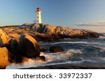Peggys Cove Lighthouse Sunset