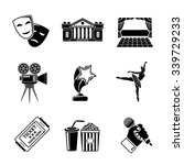 set of theater icons   masks ... | Shutterstock .eps vector #339729233