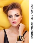 fashion model with jewelry ... | Shutterstock . vector #339735923