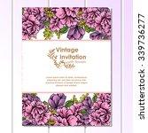 vintage delicate invitation... | Shutterstock .eps vector #339736277