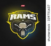 modern professional rams logo... | Shutterstock .eps vector #339751637