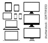 set of realistic computer...   Shutterstock .eps vector #339759353