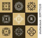 geometric monogram logo.... | Shutterstock .eps vector #339775133