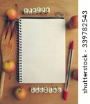 blank recipe book with a small... | Shutterstock . vector #339782543
