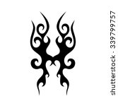 tattoo tribal vector design.... | Shutterstock .eps vector #339799757