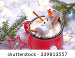 Red Mug With Hot Chocolate Wit...